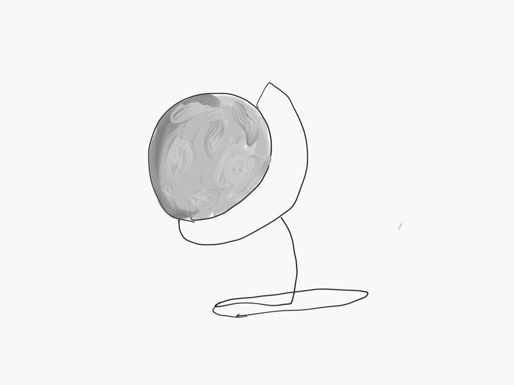 やるからには東京マラソン完走したいので今日も走ります。  これは月球儀(つきゅうぎ)、響きがいい