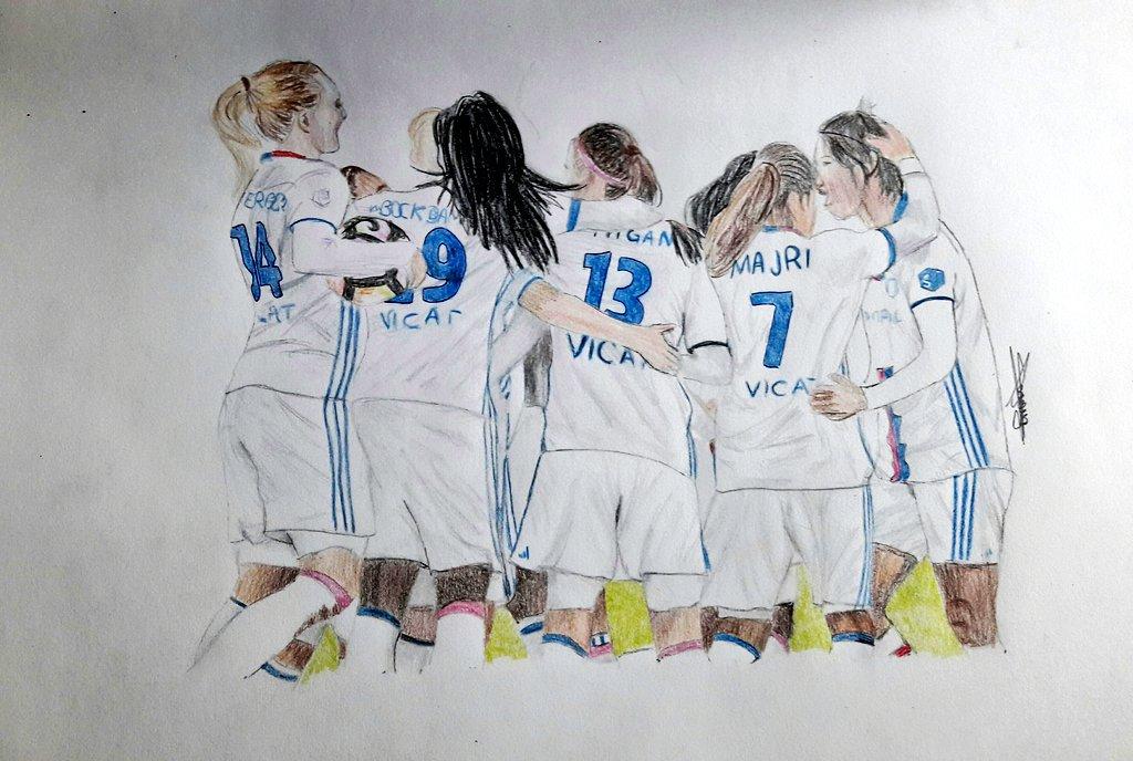 La joie de la célébration !!! @OLAngElles  Hier lors de Olympico feminin  #AM13 #olfeminin #celebration #soccer #mydrawing #passion<br>http://pic.twitter.com/WqxxNe3h4y