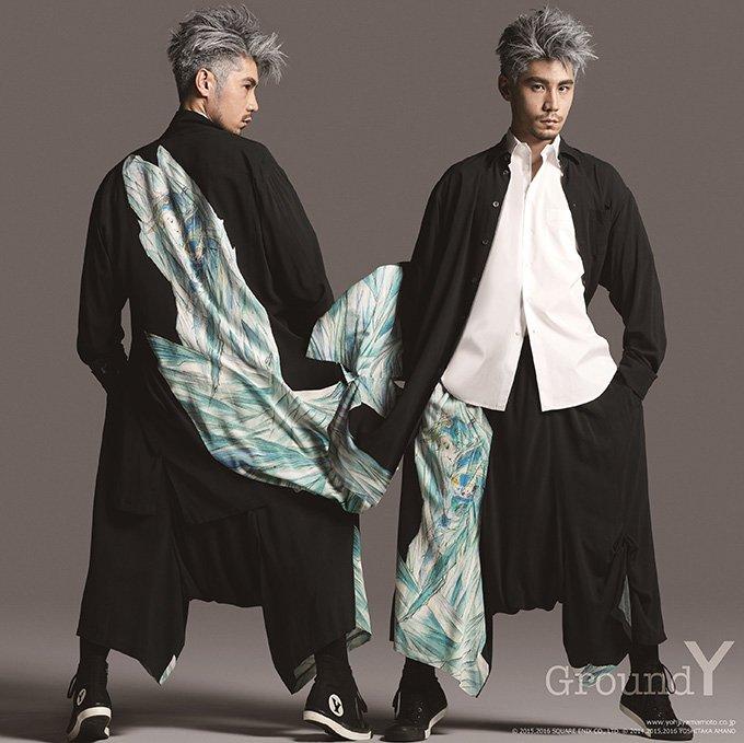 ヨウジヤマモト「Ground Y」から天野喜孝のイラストを配した新コレクション - FFBEとコラボ…