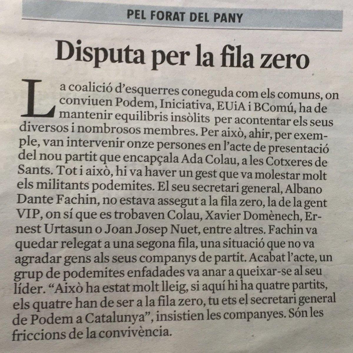 A cals Comuns les punyalades arriben abans que la fundació del propi partit #CaínViveLaLuchaSigue