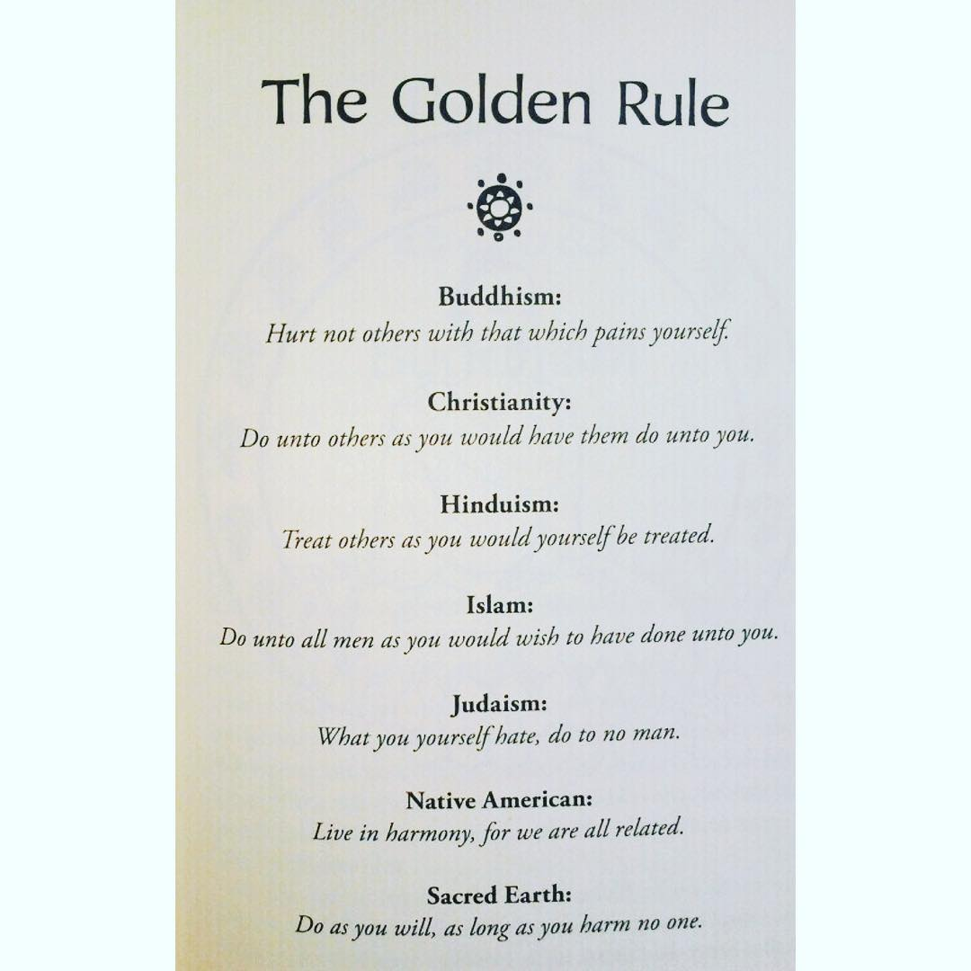 The golden rule, remember this as you go out today. https://t.co/f9mKPfxyT2