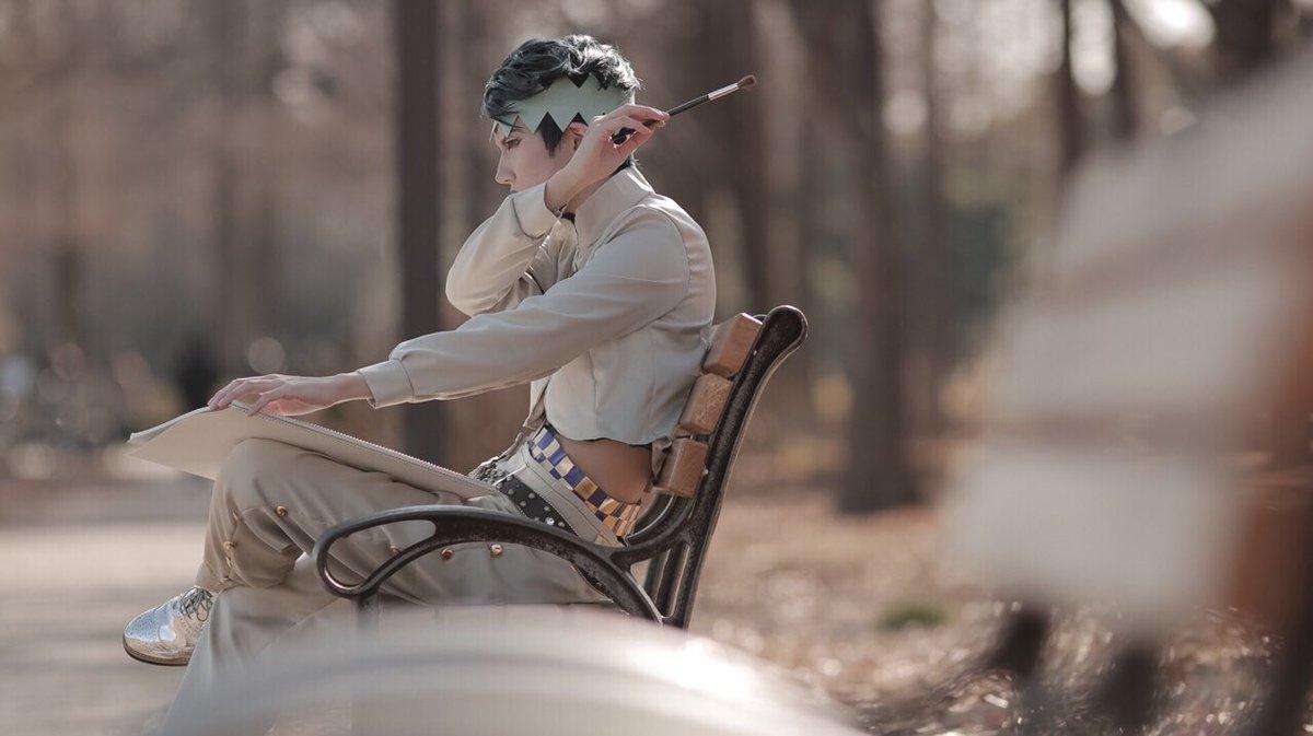 ジョジョの奇妙な冒険 4部 岸辺露伴  売れっ子漫画家の休日  photo by 19 ( @19_…