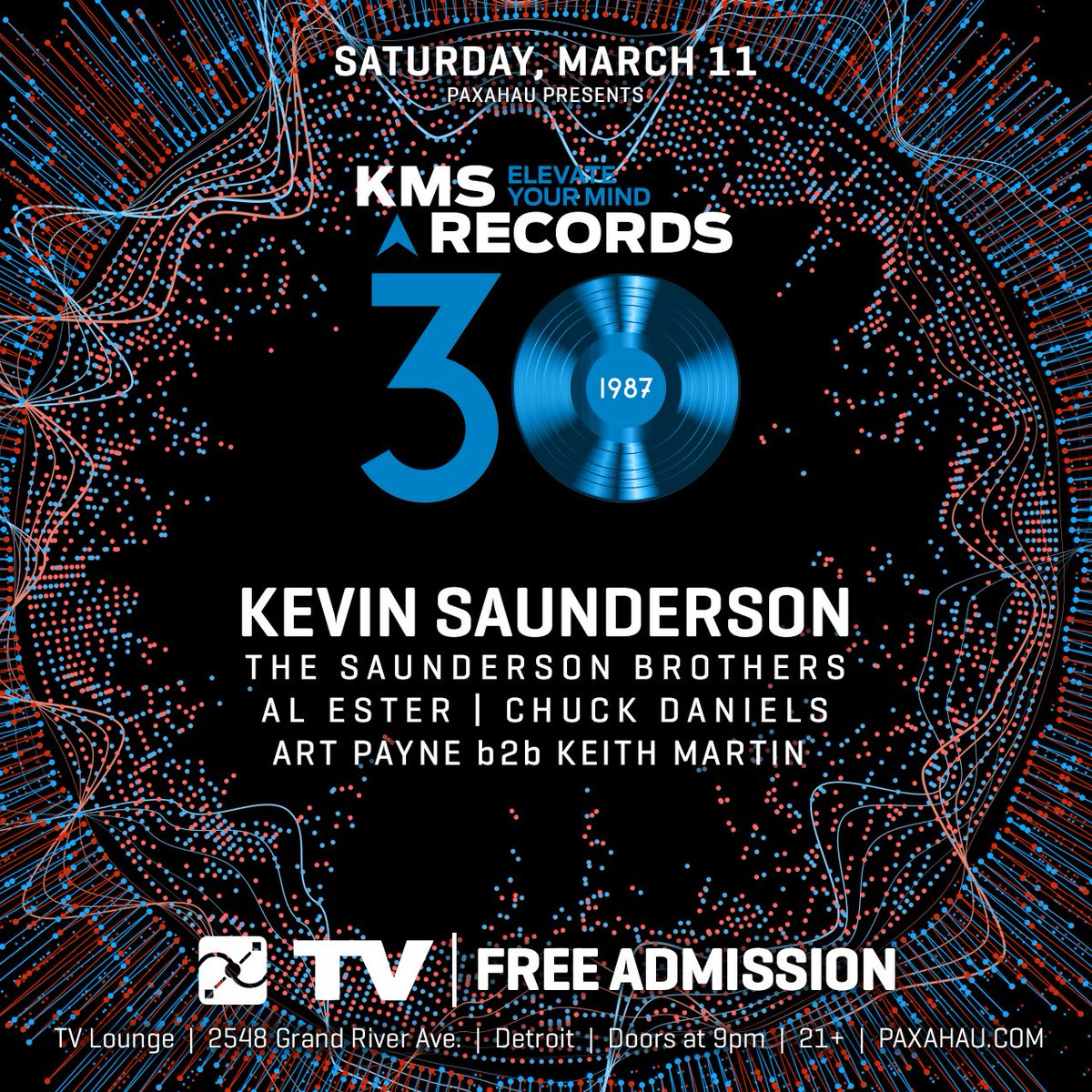 Just Announced! #KMS Records 30 Year Anniversary w/ @kevinsaunderson in 3/11 at TV Lounge. FREE admission. https://t.co/ItrqI4cSkv