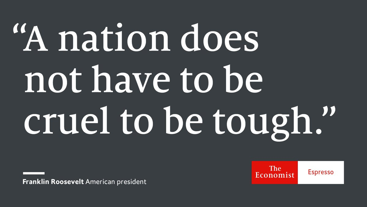 Our quote of the day is from Franklin Roosevelt, the 32nd American president
