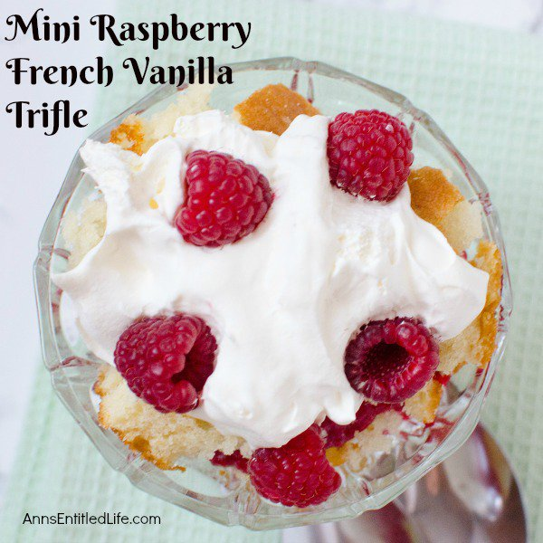 Mini Raspberry French Vanilla Trifle Recipe