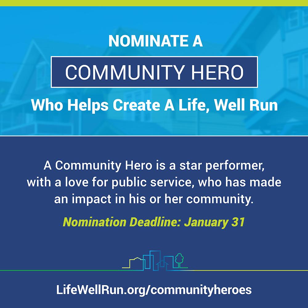 Deadline TOMORROW! Nominate your #localgov Community Hero! @lifewellrun https://t.co/MDvIZWmZWb