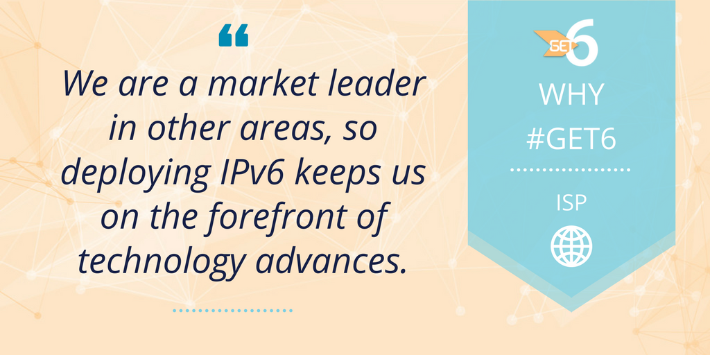 Be a leader. Stay on the forefront of technology. #get6 Deploy #IPv6 https://t.co/Nov92mK54I