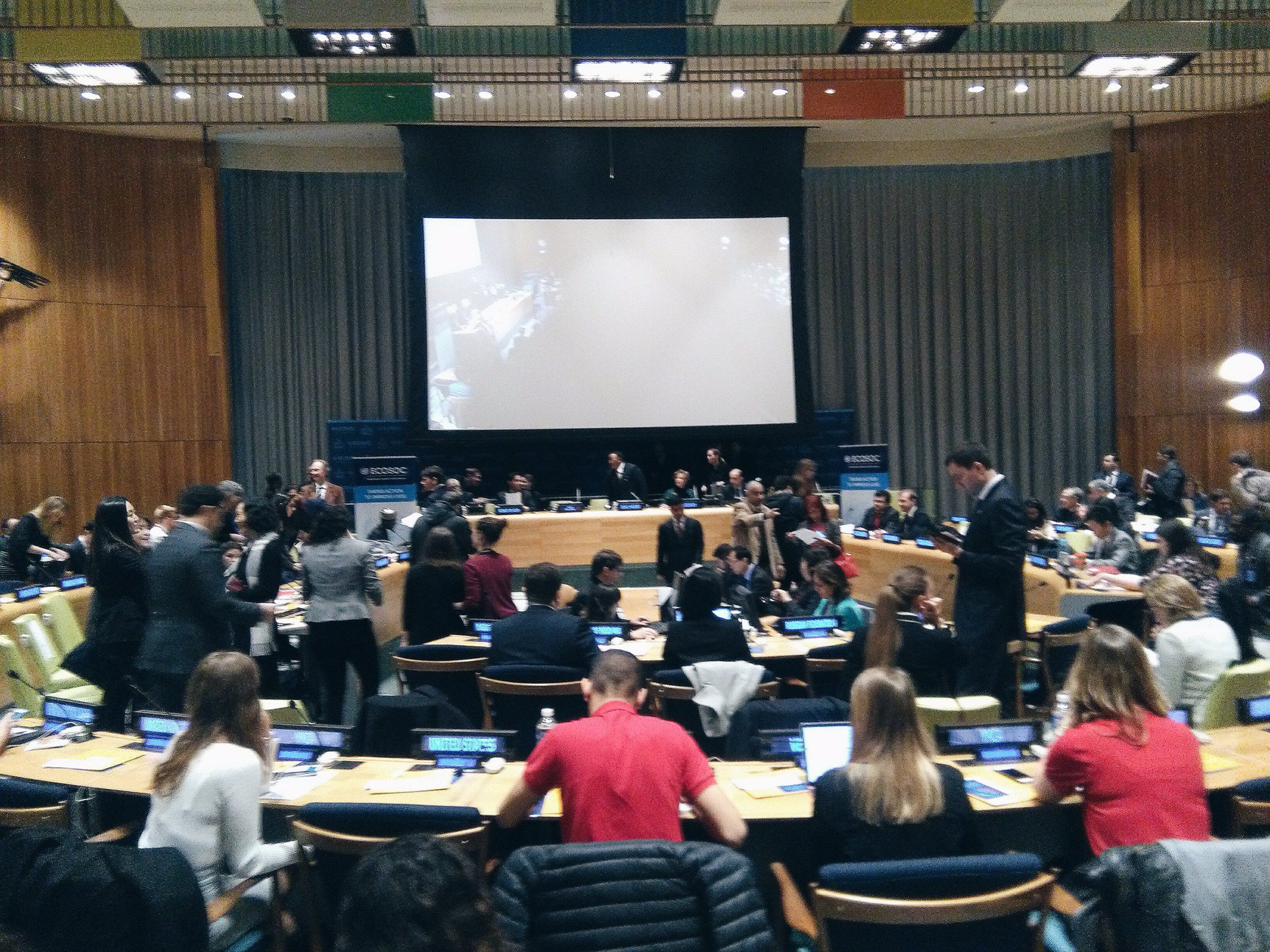 ECOSOC Youth Forum about to start! So many young faces from all over the world - excited about what's to come! #youth2030 https://t.co/sQC1PRipVt