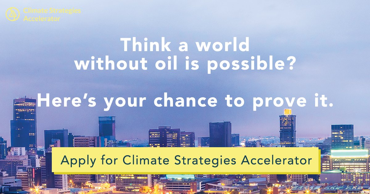 Have an idea to end oil dependence? Apply for #ClimateStrategiesAccelerator  http:// buff.ly/2kIckYr  &nbsp;    @CSA_Accelerator #cleantech #impact<br>http://pic.twitter.com/qs1aYu1KUz