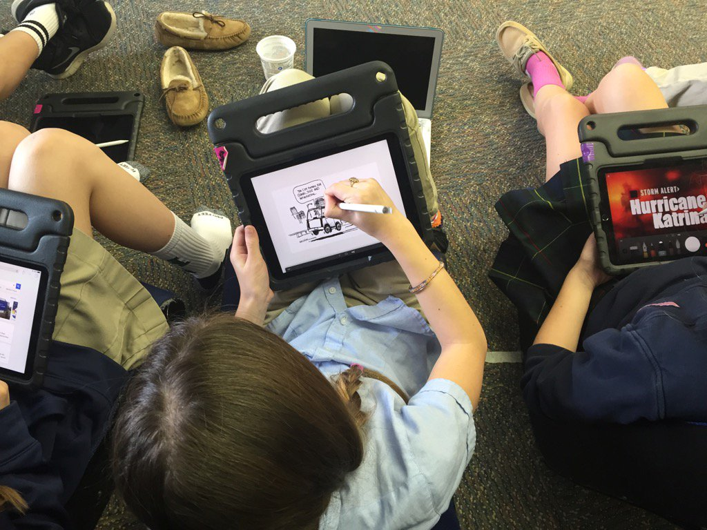 Using Paper by 53 and Pic Stitch on iPads to enhance our graphic novel unit #myflinthill https://t.co/xhhQq4wraW