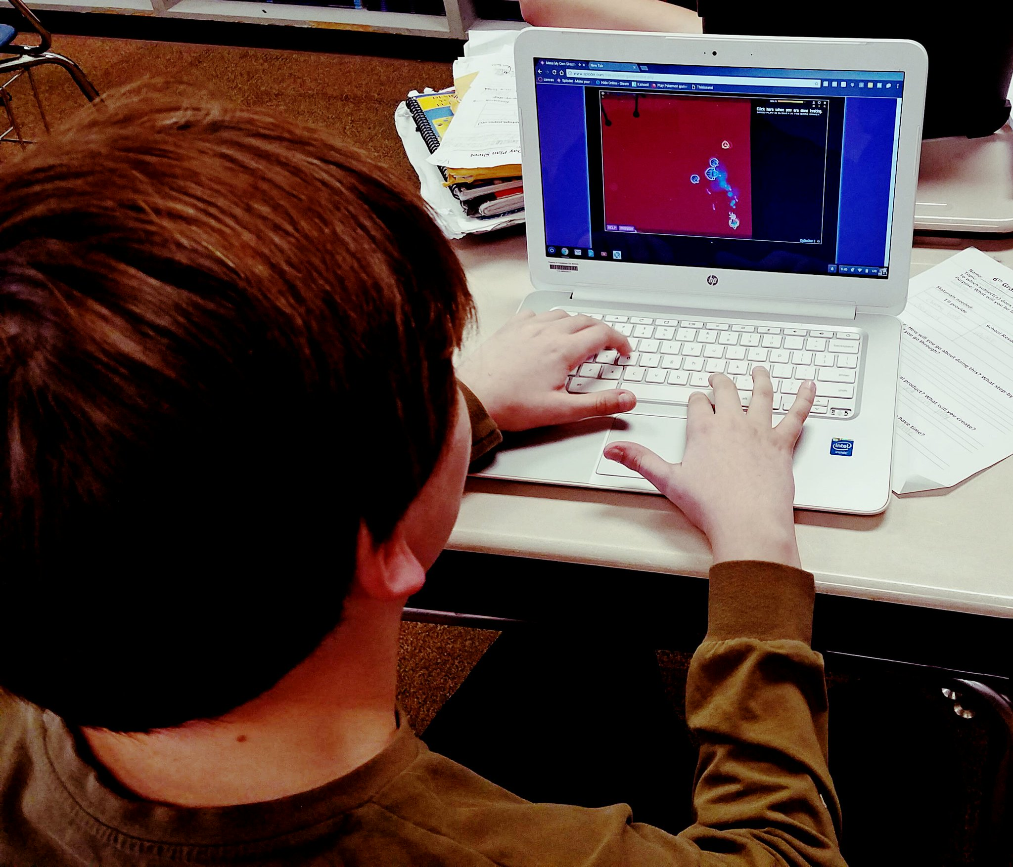 Student using #CODE to create his own video game for @RqmsJags Innovation Day.  #TCSlearns #RQinnovates https://t.co/V7EzcQyDFS