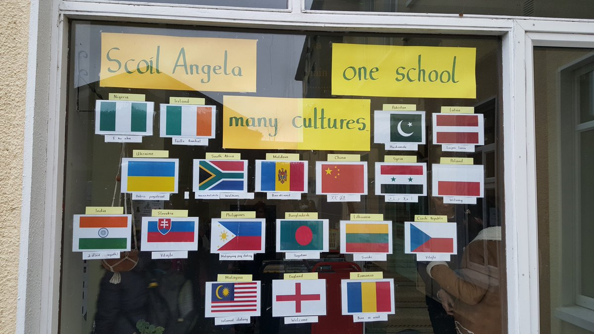 When I went to school in Ireland it was 100% Irish. Now, this is my children's school in Tipperary. I'm jealous.  #immigrationban #MuslimBan