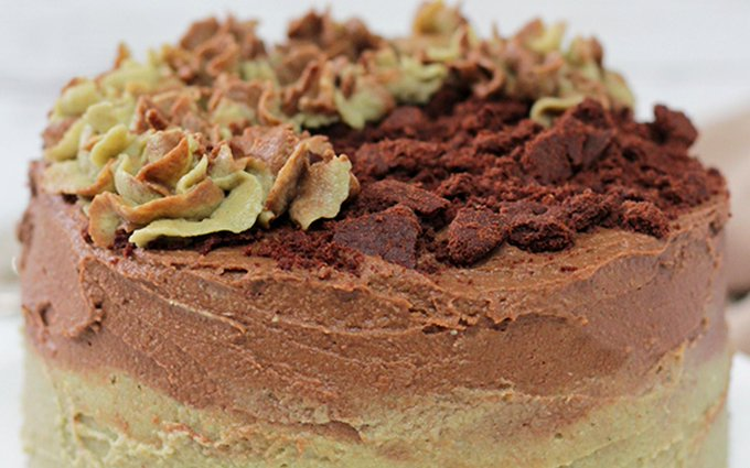 Mint Chocolate Cookie Cake [Vegan, Gluten-Free]