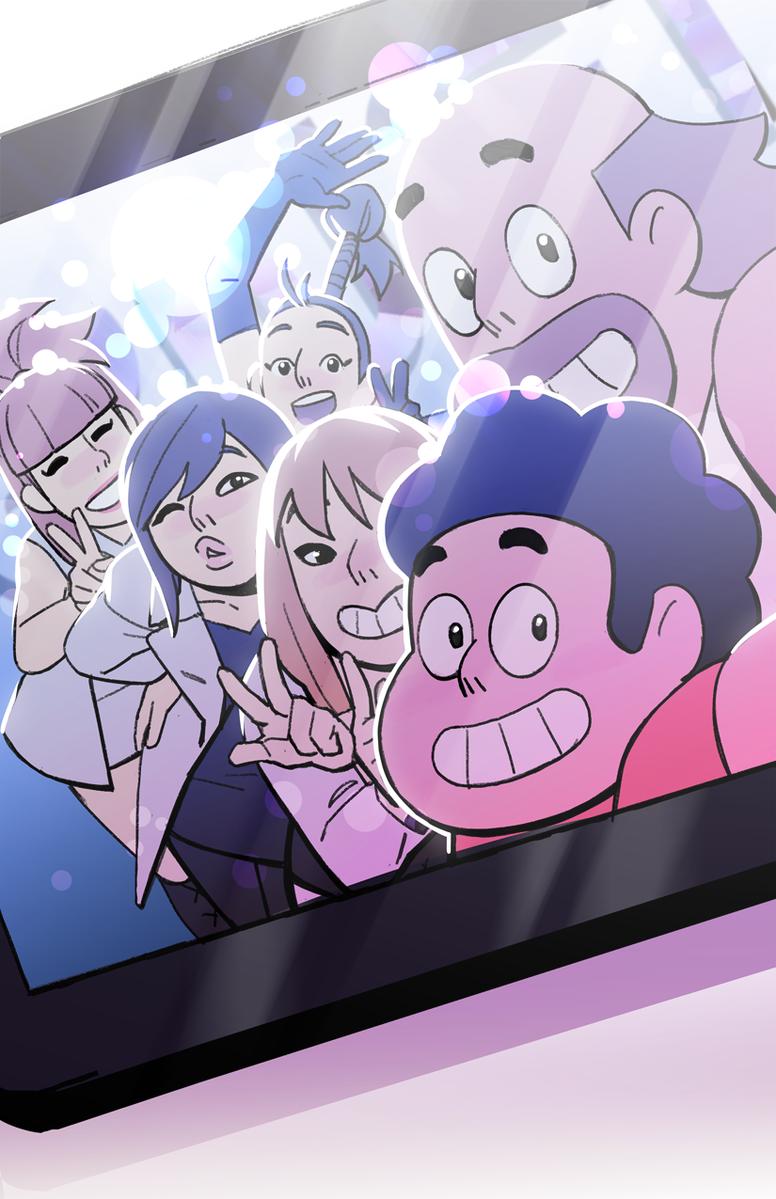 Steven Universe E Sua Adorável Selfie Com O 2Ne1