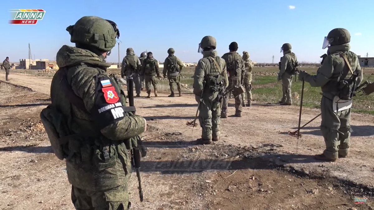 Russia military Sapper units supporting Syrian Army advance toward Al-Bab with demining territory