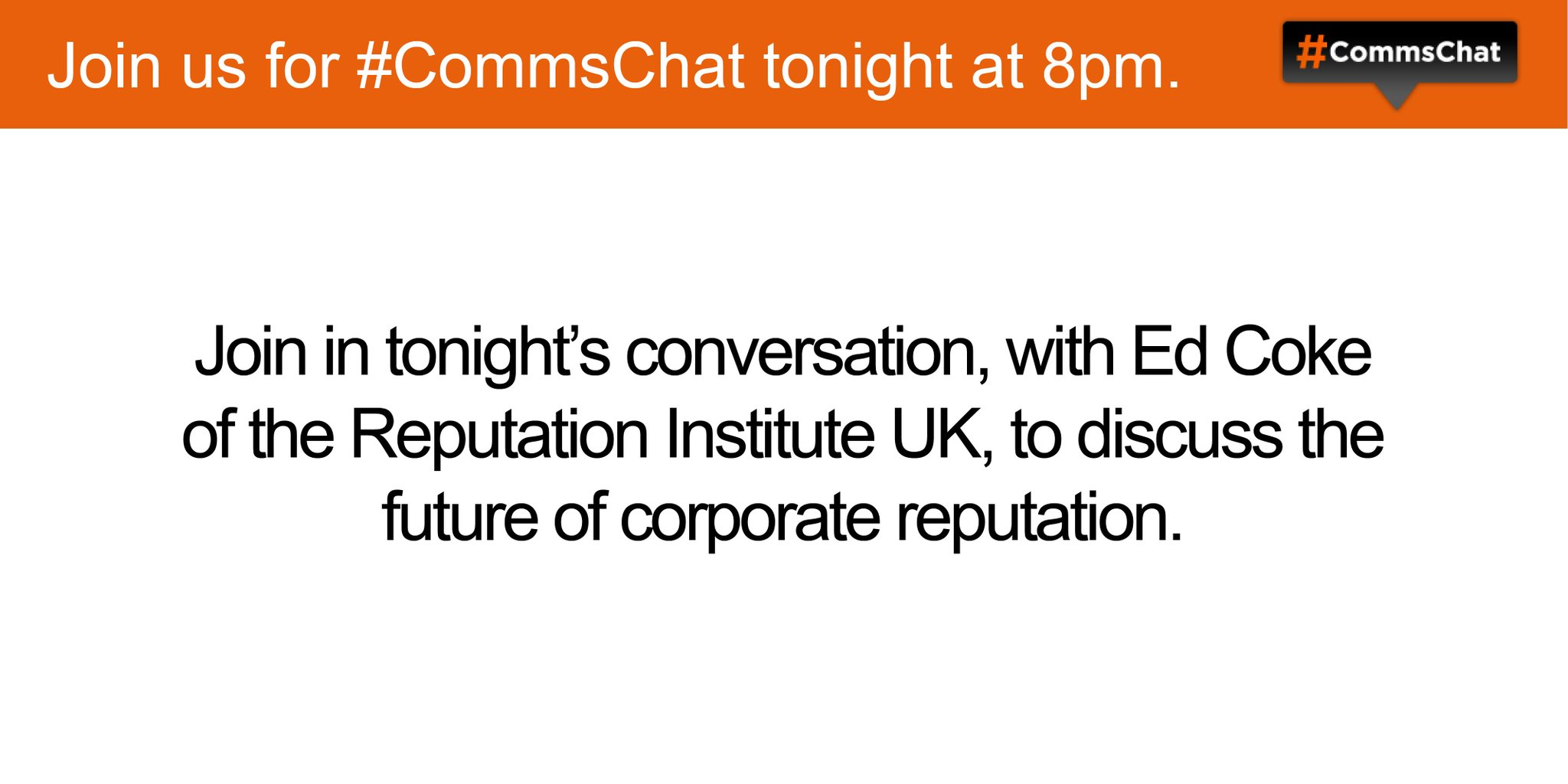 Thumbnail for #CommsChat on measuring corporate reputation