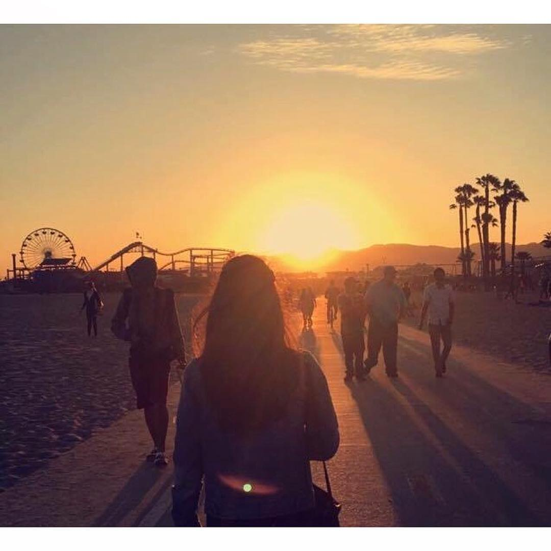 Nossa aluno @manonmistretta curtindo o por-do-sol na #Califórnia.  ❤️☀️🌅 #eflosangeles #efmoment #intercambio #estudarfora