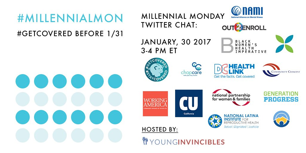 Welcome to #MillennialMon! Today's topic: How to #GetCovered Before 1/31! https://t.co/8uCciYjs75