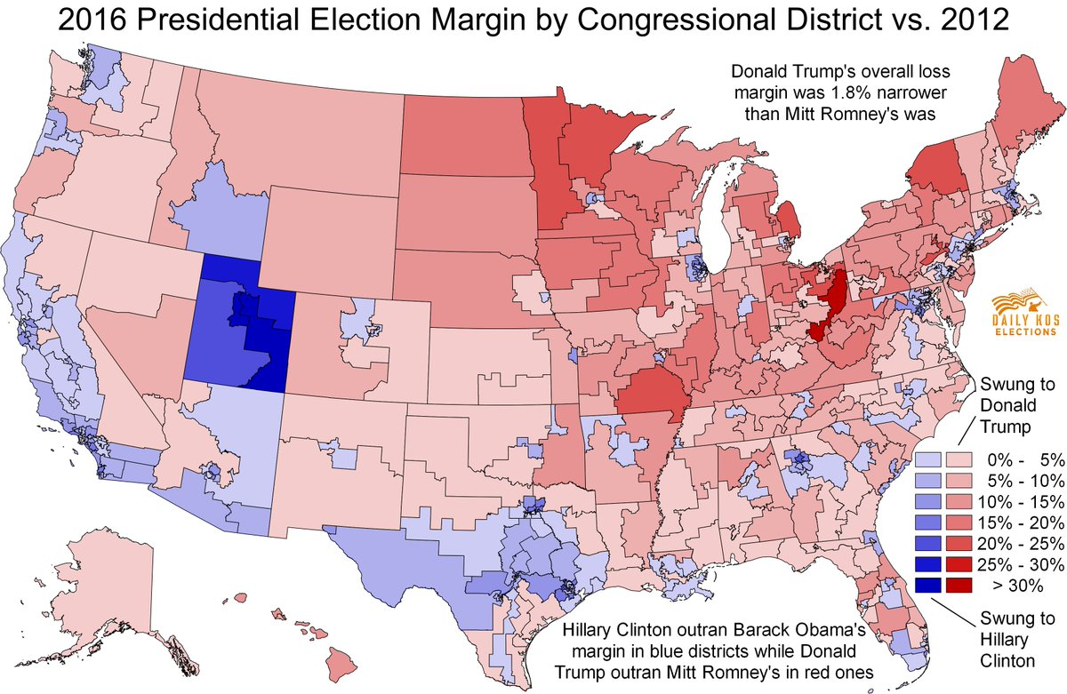 Stephen Wolf On Twitter This Map Cartogram Show How Every - Us Election Results Red Blue Map