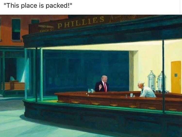 What #art knows about facts.   Via @ninaburleigh @instagram #Trump #Hopper #reality https://t.co/JIppSjzPFH