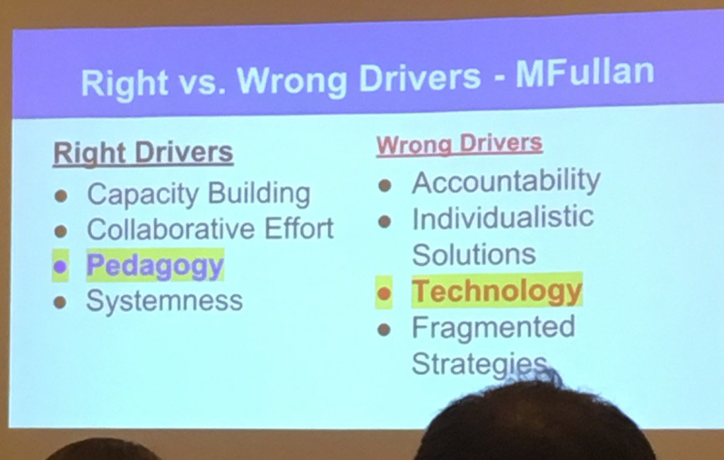 Are you focused on the right or wrong drivers?  #moplc17 @MichaelFullan1 https://t.co/OCuuxojJVg