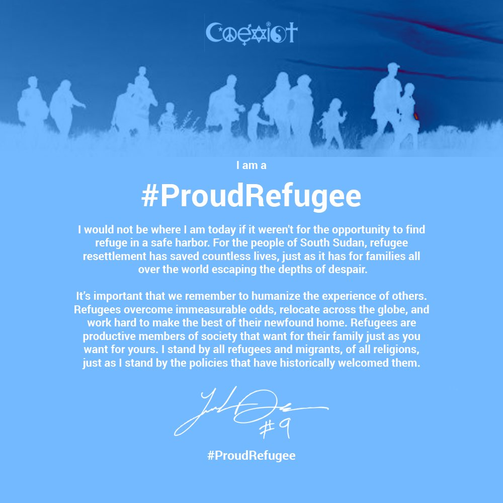 I am a #ProudRefugee. https://t.co/4aeMY98vaJ