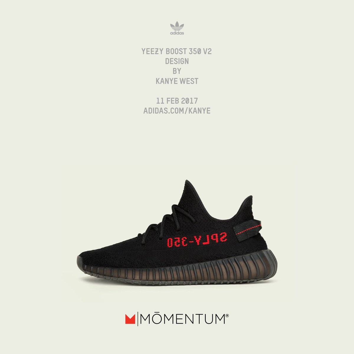 The Yeezy Boost V2 design by Kanye West