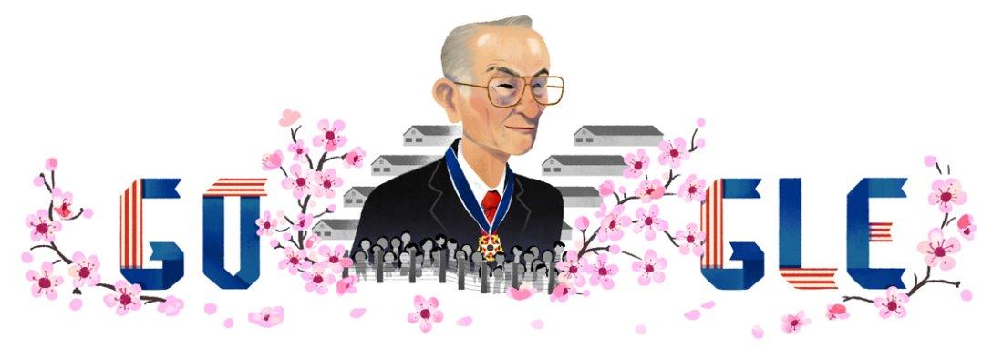 わお、今日のグーグル、第二次世界大戦中に日系人強制収用所に反対した人権活動家・是松豊三郎の生誕を祝福…