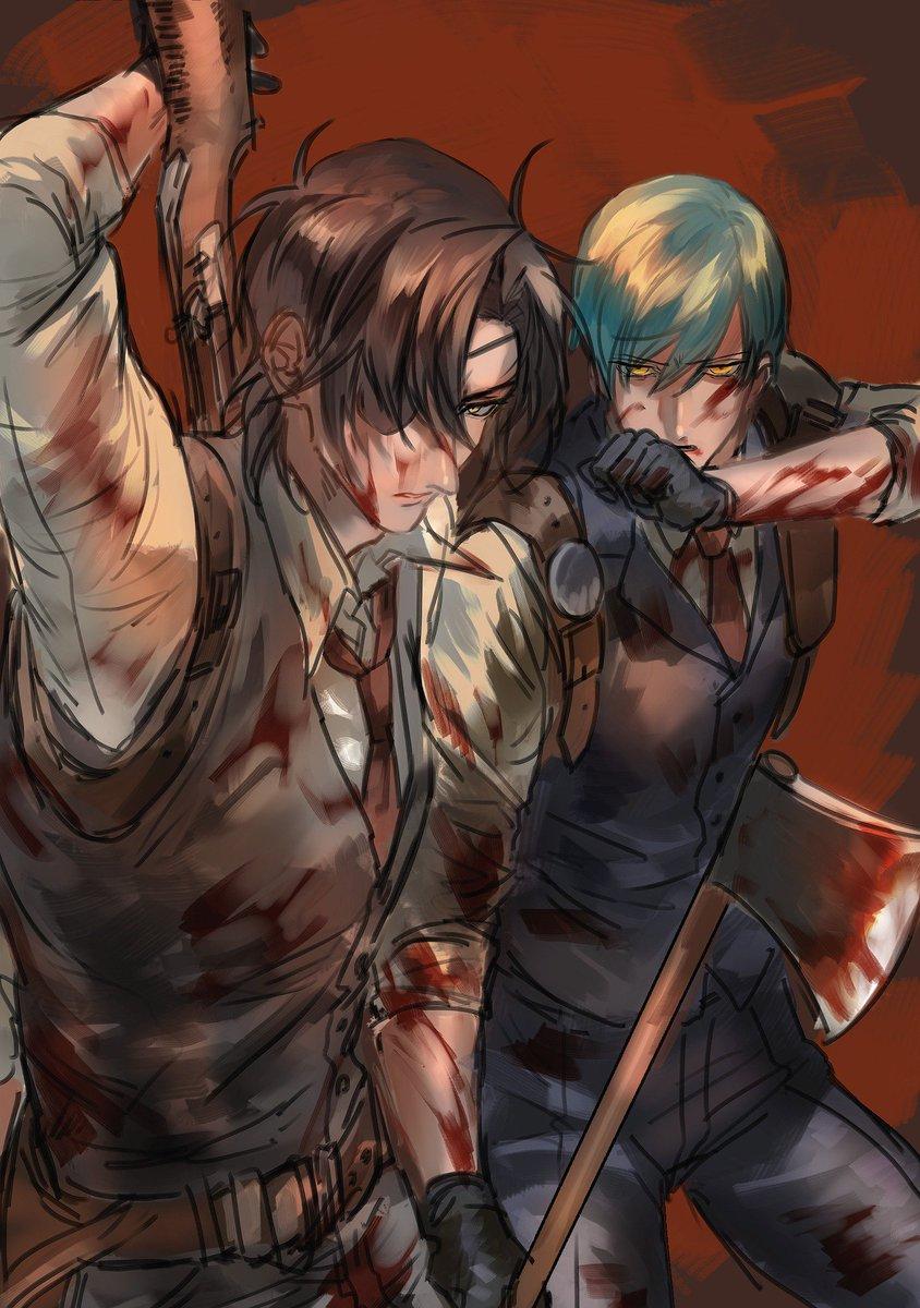 サイコブレイクの二人に刀を重ねるオタク…斧でゾンビ殺す一期一振推していきたい