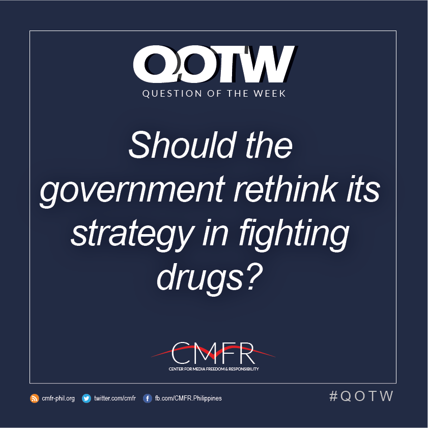 Thumbnail for QOTW: Should the government rethink its strategy in fighting drugs?