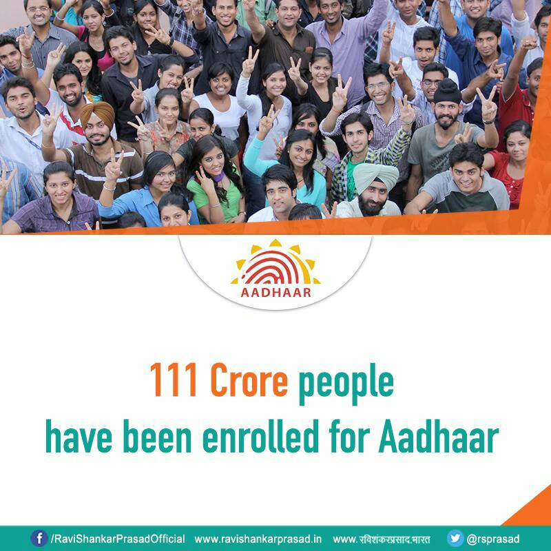 Replying to @rsprasad: World's largest democracy also has the world's largest population with digital identity. #DigitalIndia