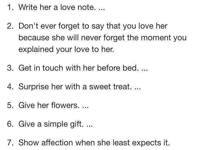 Ways To Show Your Girlfriend You Love Her