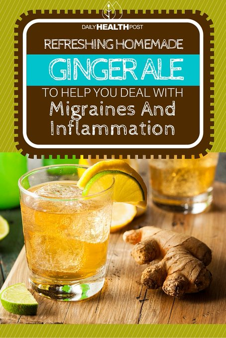 Refreshing Homemade Ginger Ale to Help You Deal With Migraines And Inflammation