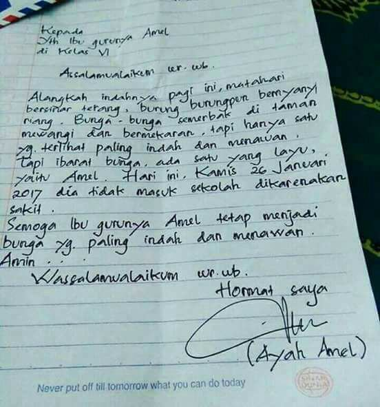 Terlalu Romantis Surat Izin Sakit Jadi Tertawaan Netizen