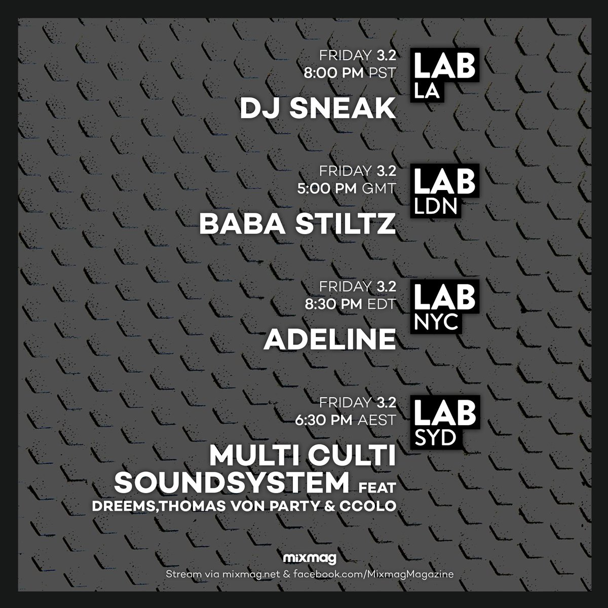 """8 Pst To Aest mixmag on twitter: """"international labs on point this week 👌… """""""