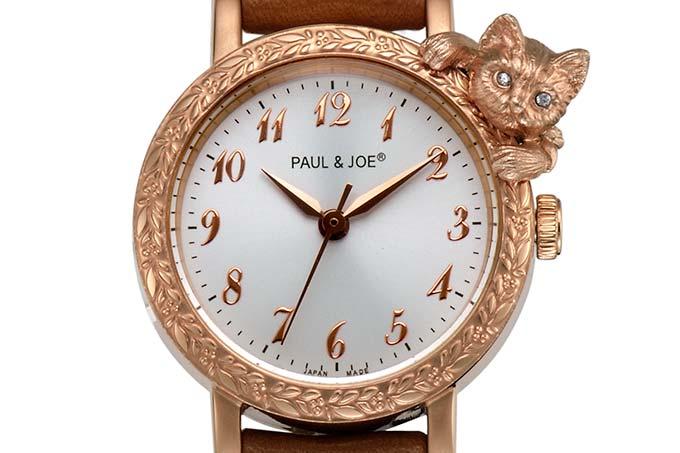 ポール & ジョーの新作ウォッチ - 猫が覗く「タイムレス キャット」にレザーストラップ新登場 fa…