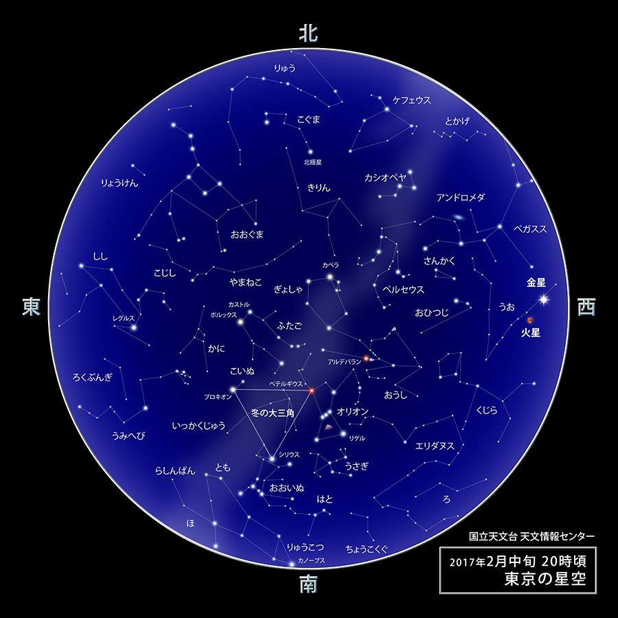 【ほしぞら情報】2017年2月の星空―トピックス:カノープスを探してみよう、金星が最大光度、夜明け前…