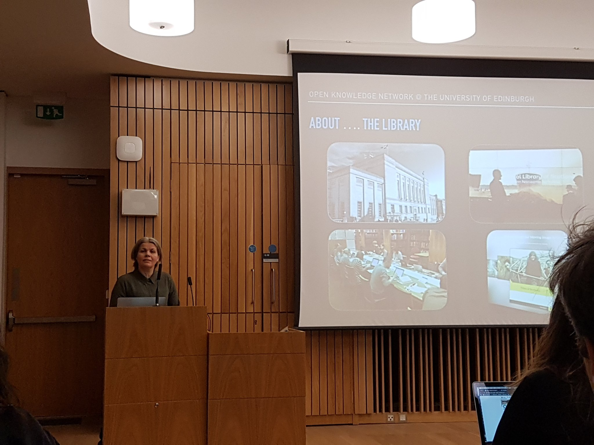 .@GillHamilton on @natlibscot @wikipedia & new @scotsonscreen site at the University of Edinburgh Open Knowledge Network event #UoEOKN https://t.co/Wo45JQiyRO