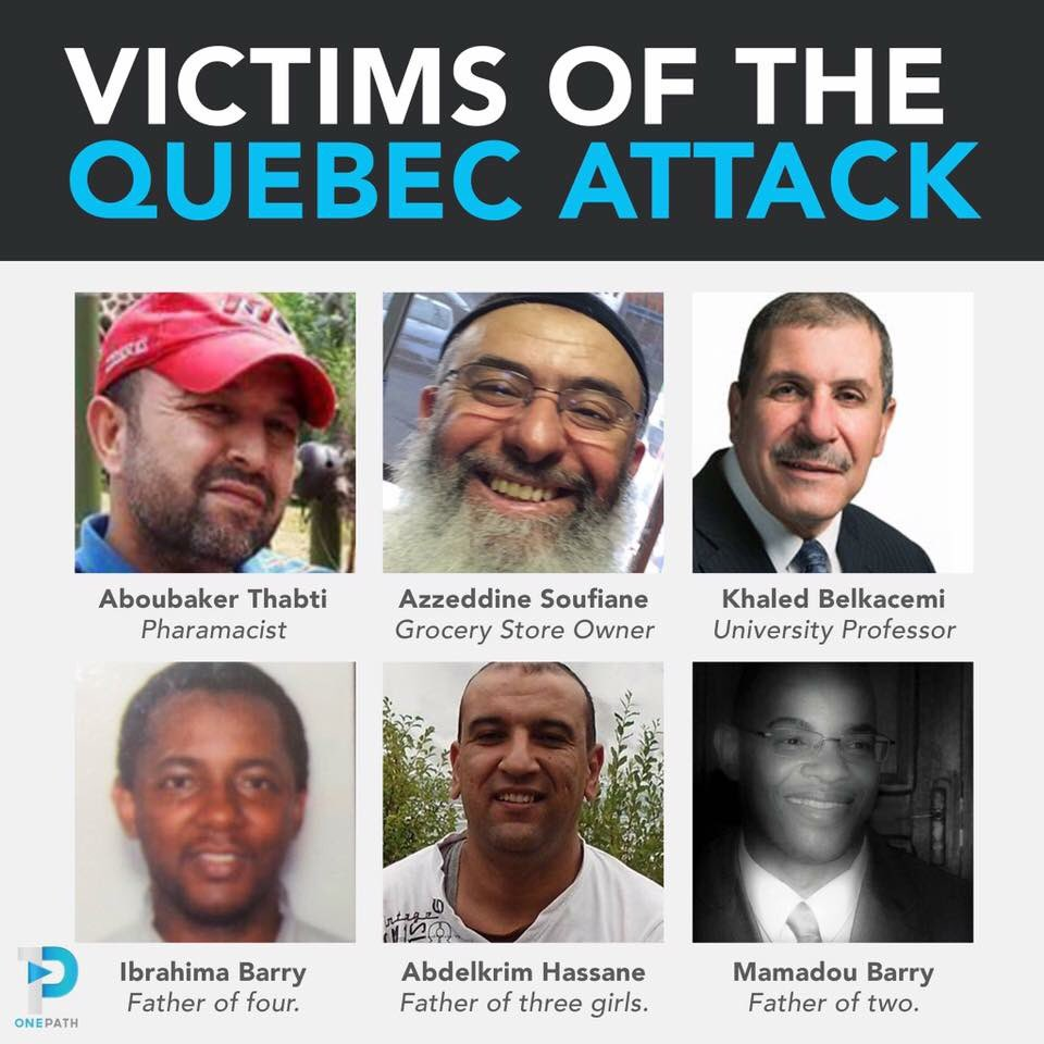 Victims of the #QuebecMosqueAttack
