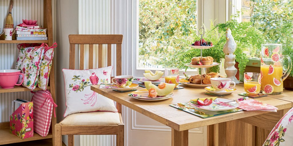 #COMPETITION! RT & follow for your chance to #WIN this brand new Floral Heritage dining set! ENDS TONIGHT! https://t.co/SZJx3ywvR3
