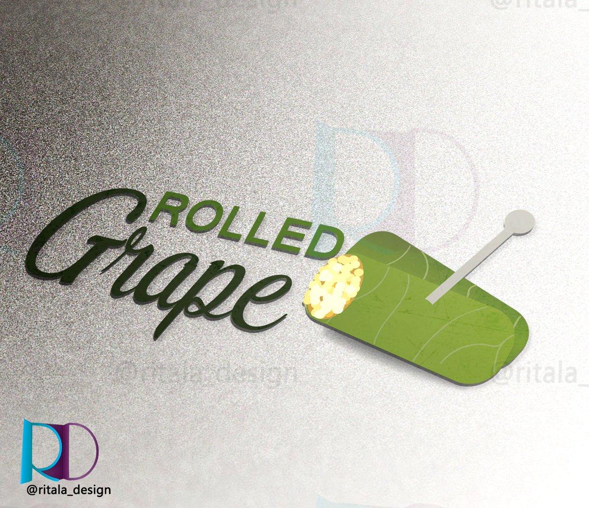 ريتالا للتصميم Twitterren شعار لمشروع ورق عنب Rolled Grape