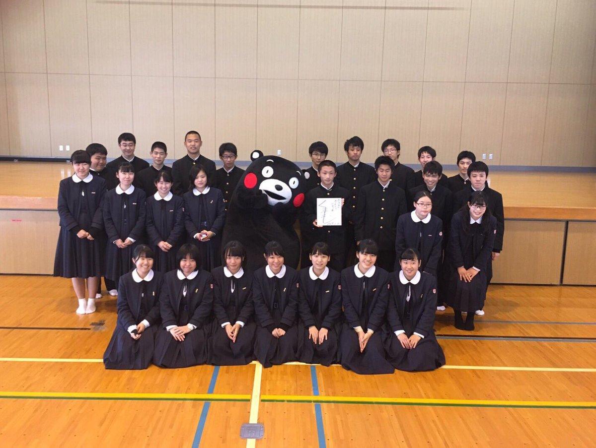 鹿児島県立国分高校にもおじゃましたモン!炊き出しなどをしてくまさった生徒のみなさんとふれあったモン☆…
