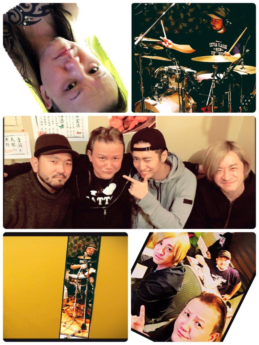 本日は俺のアコースティックアルバムのレコーディング!ドラムREC  大阪から韻シストのドラマーTAR…