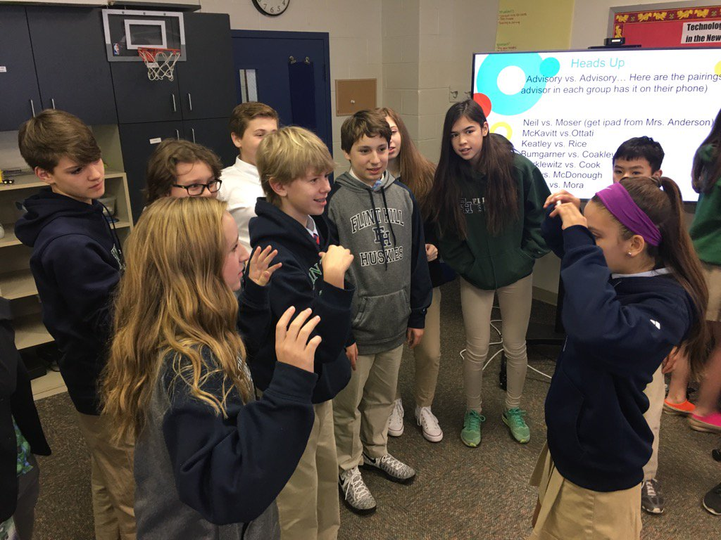 Combined 7th/8th #advisory games #myflinthill https://t.co/Crf4twg1XV