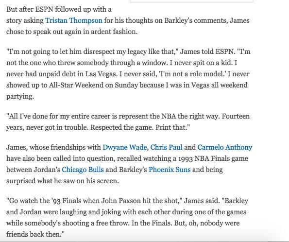 290582b87a8 OT - LeBron James rips Charles Barkley  You re the NBA bad boy