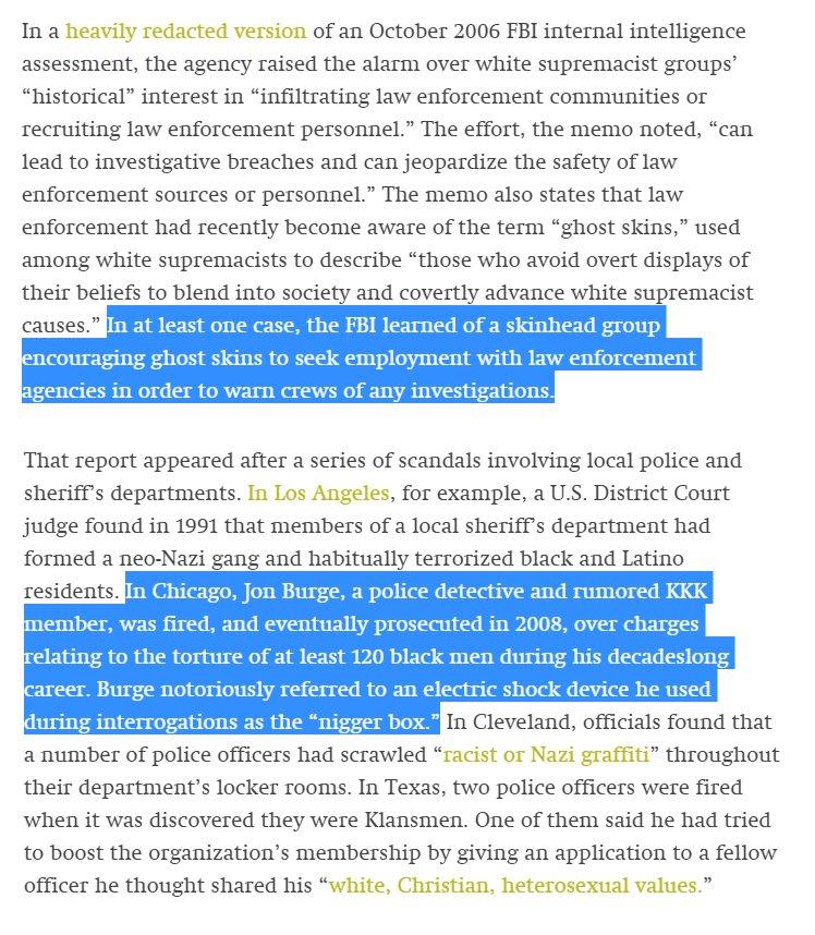 FBI found white supremacists have infiltrated law enforcement, worried action would provoke conservative backlash. https://t.co/0XJXpsMRvS https://t.co/srT9KsUTDG