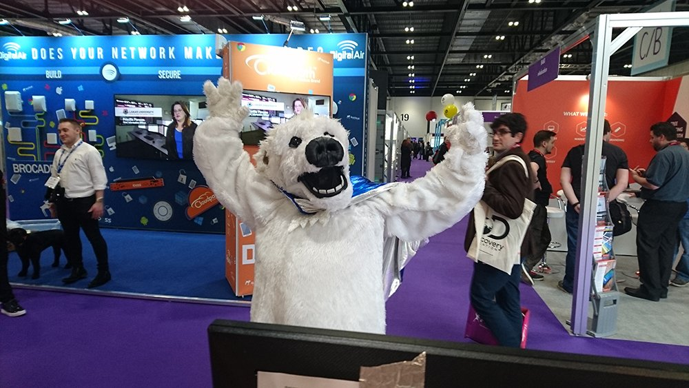 One very happy Maths Bear at the @Bett_show last week... did you see William? #Bett2017 #ConquerBETT17 https://t.co/FKcXsco6sk