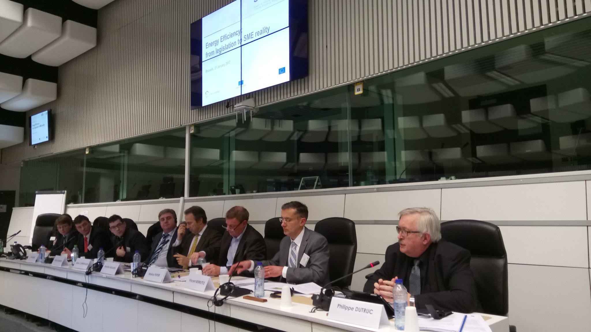 .@DUTRUCPhilippe à la conférence #STEEEP : les #CCI  favorisent l'amélioration et le financement de la performance énergétique des #PME https://t.co/5cQx380bWO