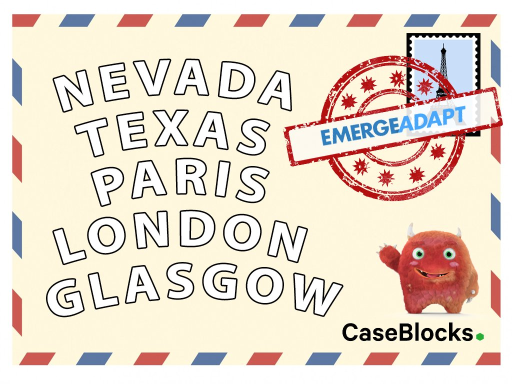 #CaseBlocks travelling all over the world deploying solutions in 2017 #traveltuesday @emergeadapt #otto #ordermanagement #casemanagement