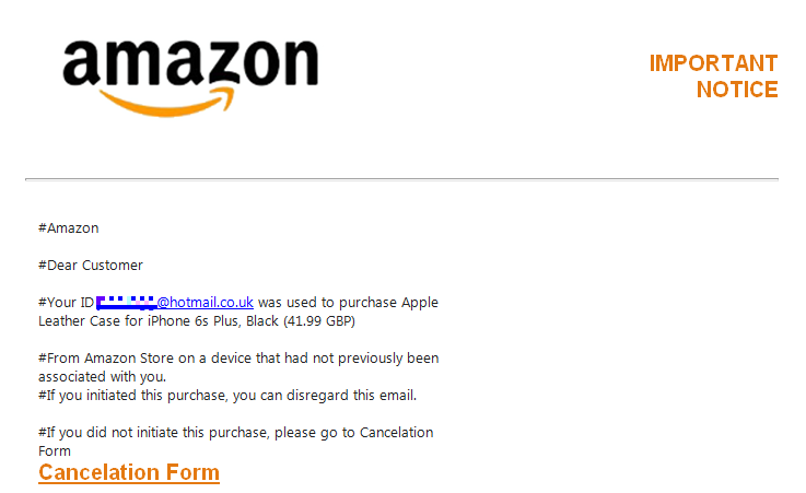 Action Fraud On Twitter Fake Amazon Emails Are Back Avoid The Suspicious Looking Confirmation Messages And Don T Click On The Links Delete And Report It Https T Co Tpmdh9ybi7